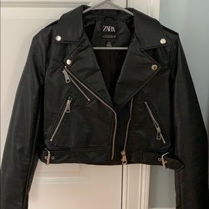 NWOT Zara faux leather jacket